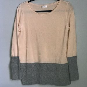 Club Monaco 100% Cashmere Pink/Grey Sweater Size M